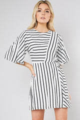 Black & White 3 WAY STRIPED DRESS