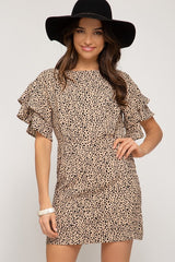 Double Ruffle Sleeve Dress (Multiple Colors)