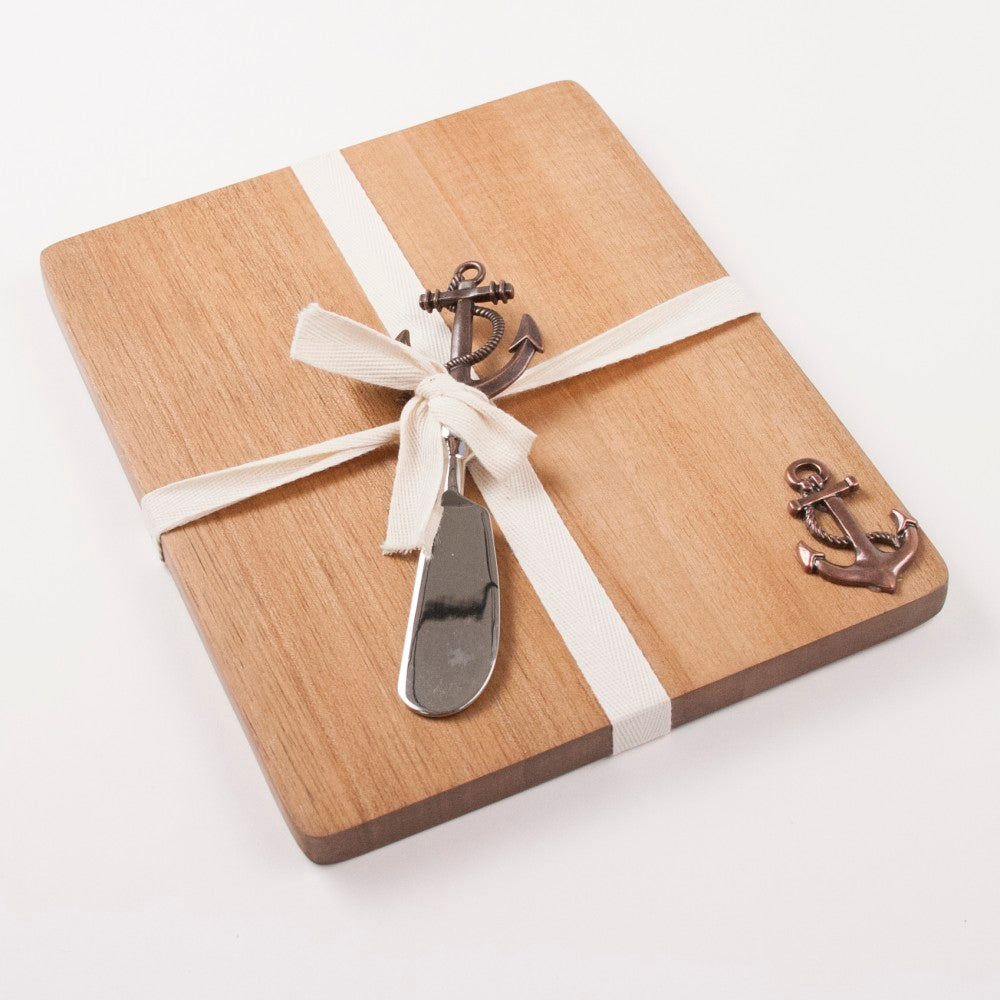 Anchor Wood Cutting Board & Spreader Set