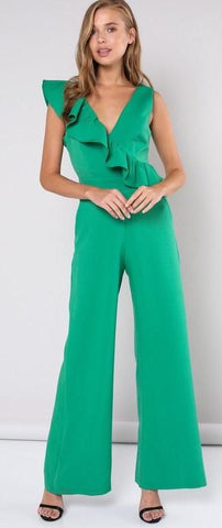 Ruffle Sleeveless Jumpsuit (Multiple Colors)