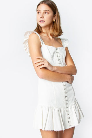 Esme Bustier Dress in White