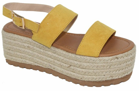 Espadrille Platform Slingback Sandals (Multiple Colors)