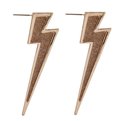 Lightning Bolt Post Earrings