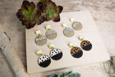 Sausalito Animal Print Earrings