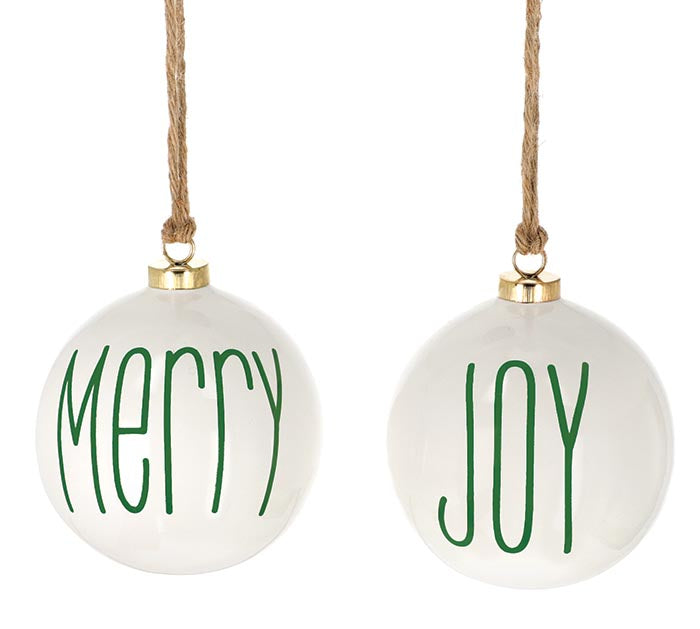 Merry & Joy Ball Ornament