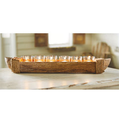 Canoe Votive Holder