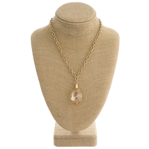 Teardrop Gold Chain Necklace