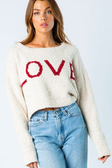 Knit LOVE Cropped Sweater