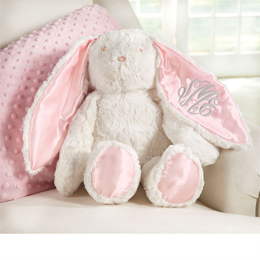 Plush Floppy Eared Bunny (pink or blue)