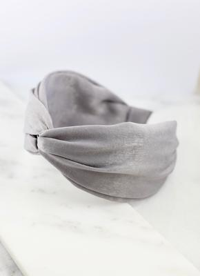 Light Gray Twisted Headband