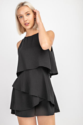 Black Layer Romper