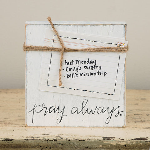 Pray Always Twine Frame