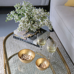 Glass Gold Foil Round Bowl Set (Small)