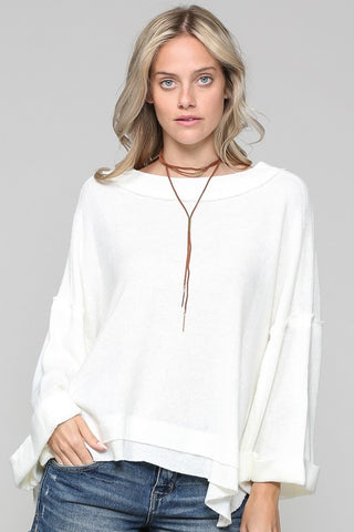 Loose Fit Top With Bell Sleeves (Multiple Colors)