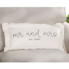 Mr. & Mrs. Est. 2020 Pillow