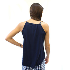 Sleep Cami in Navy Check