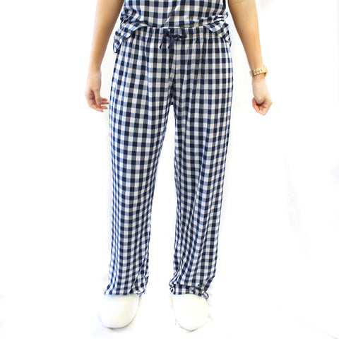 Sleep Pants in Navy Check