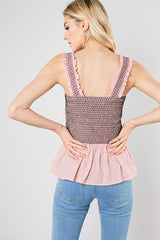 Ruffled Tube Top with Straps (Multiple Colors)