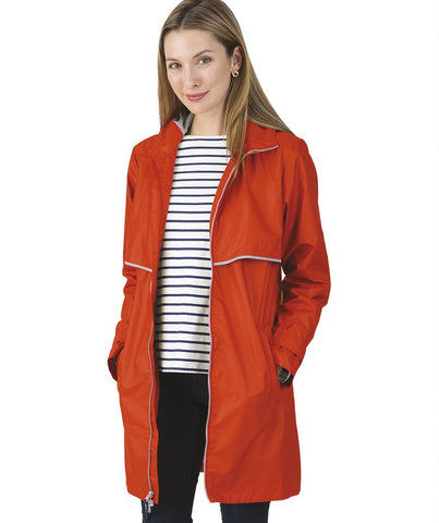 New Style Long Rain Jacket - Orange