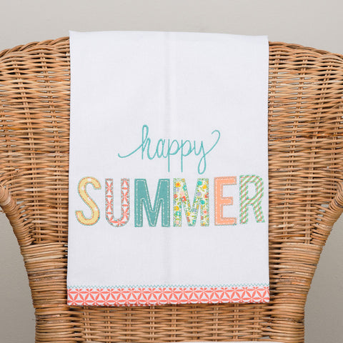 Happy Summer Tea Towel