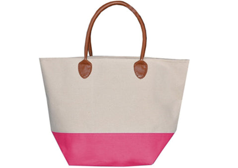 Canvas and Pleather Tote