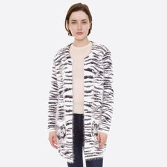 Fuzzy Animal Print Cardigan with Pockets (Multiple Colors)