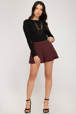 Layered Ruffle Shorts