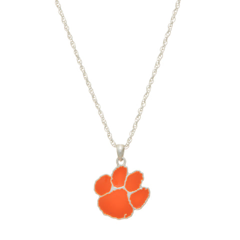 Tiger Silver Tone Necklace