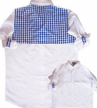 Cover-Up White/Blue Gingham