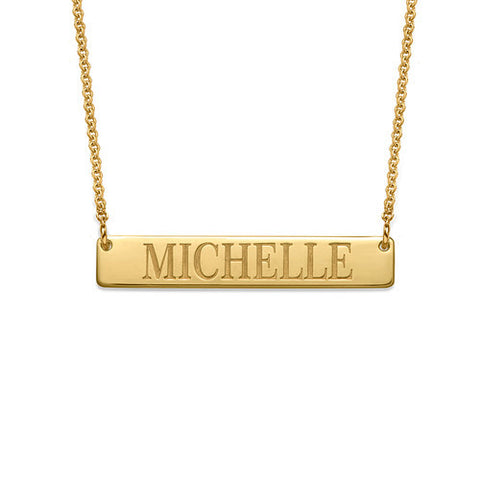 Bar Engraved Name Necklace