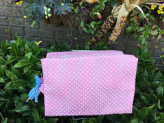 Large Cosmetic PolkaDot Bag