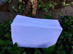 Cotton Waffle Cosmetic bag (many colors)