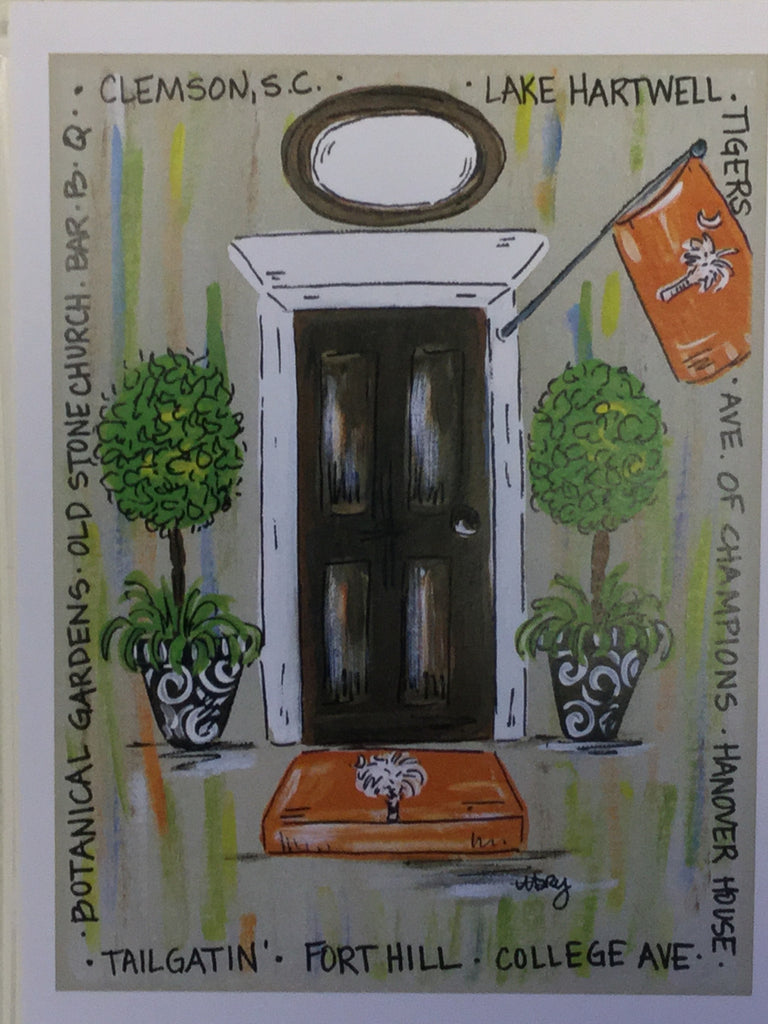 Clemson Door Print (Brown Door)