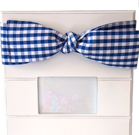Blue Gingham Bow Frame