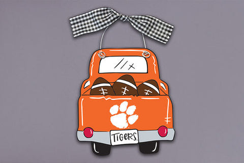 Clemson Wood Truck Ornament