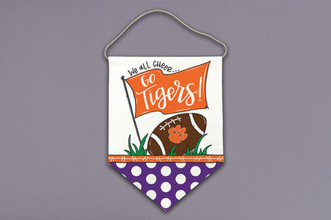 "Clemson ""We All Cheer"" Door Hanger"