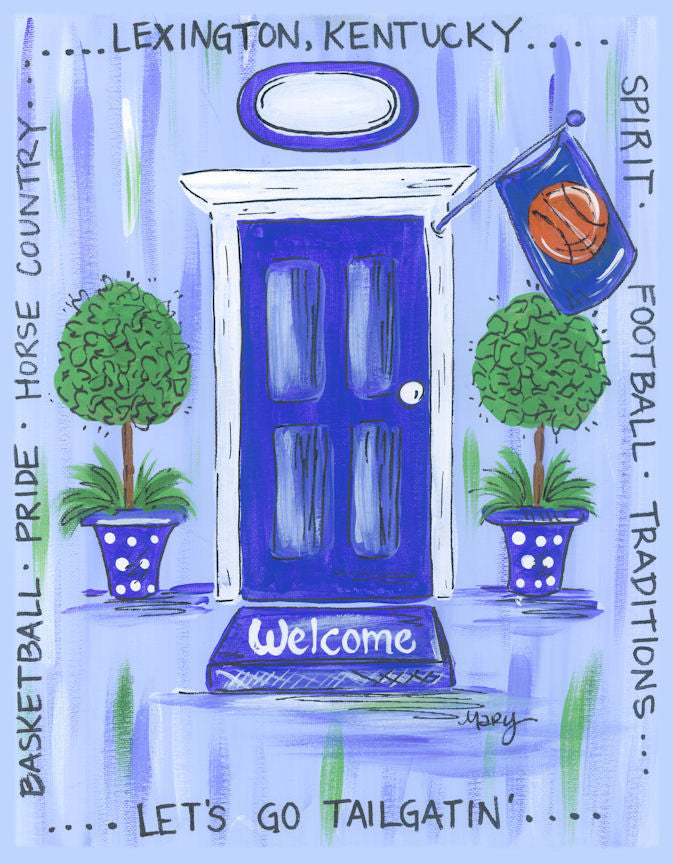 University of Kentucky Door Print