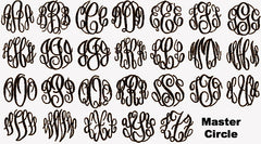 Template for Embroidery Monograms (to add font pics)