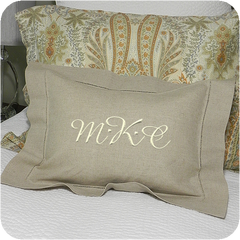 Hemstitched Pillow Sham (two colors)