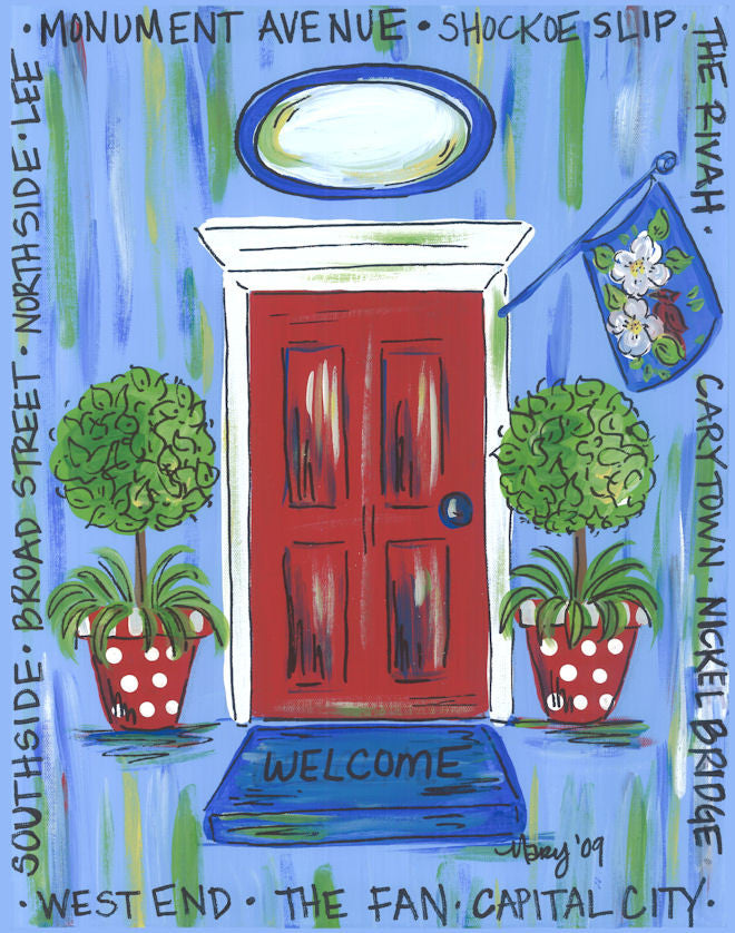 Richmond, Virginia Door Print