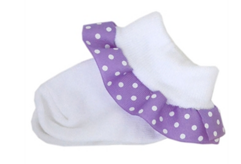 Purple Ribbon Socks