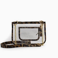 Clear Stadium Pouch in Leopard