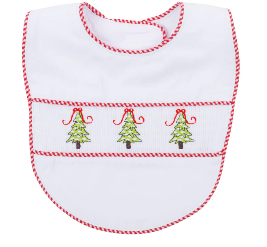 Holiday Smocked Bib
