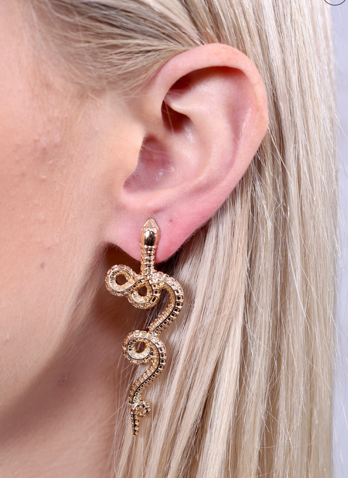 Amazonia Small Gold Snake Post Earring