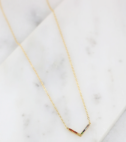Delicate CZ Multi-Colored Necklace