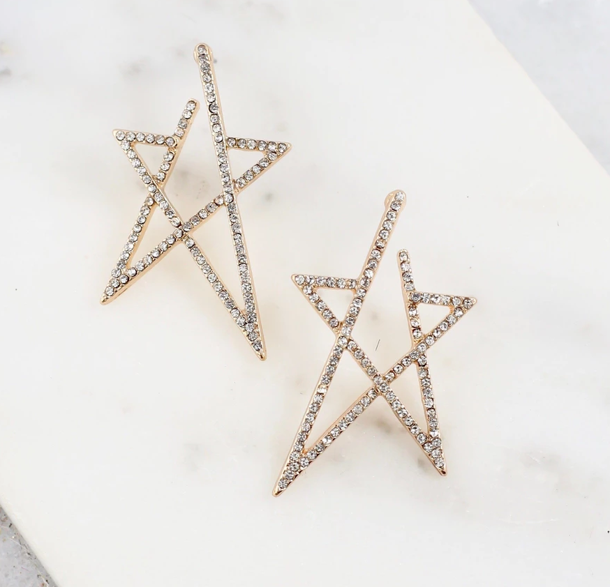 CZ Star Post Earrings