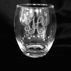 (4) Stemless Wine Glasses