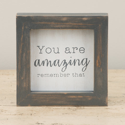 You Are Amazing Framed Board