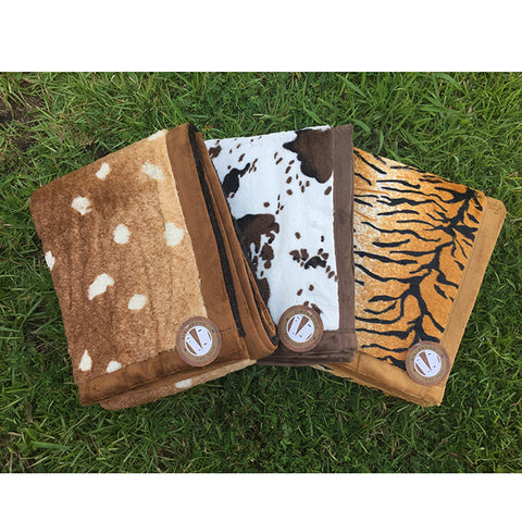 Animal Print Plush Throw