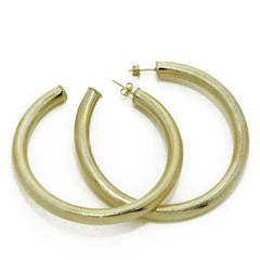 Arlene Hoops (Med Thick) in Gold